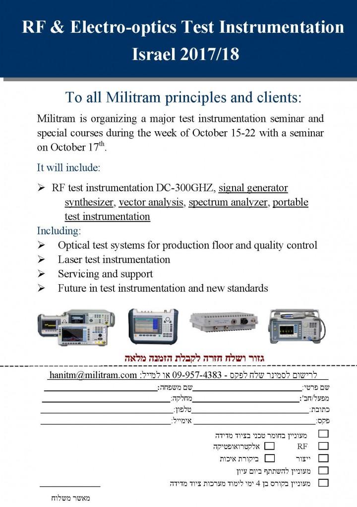 Electro-optics Test Instrumentation