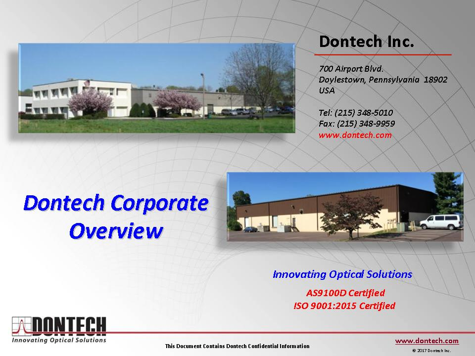 Dontech Overview