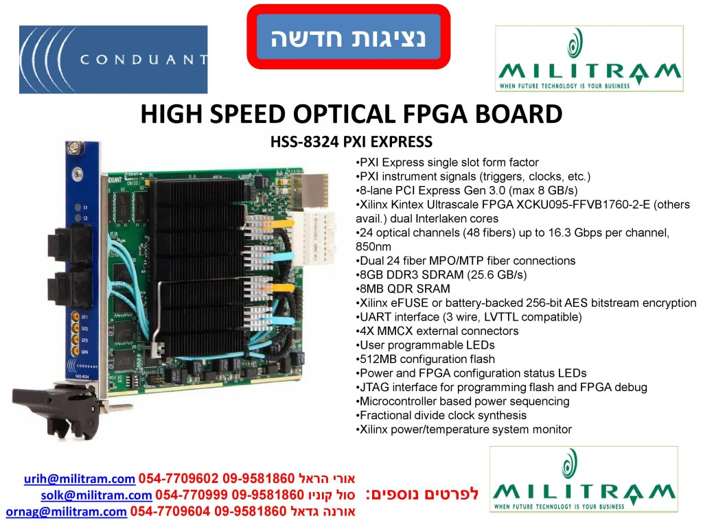 HIGH SPEED OPTICAL FPGA BOARD