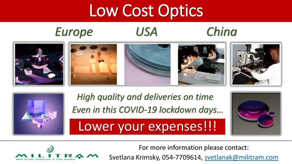 Low Cost Optics