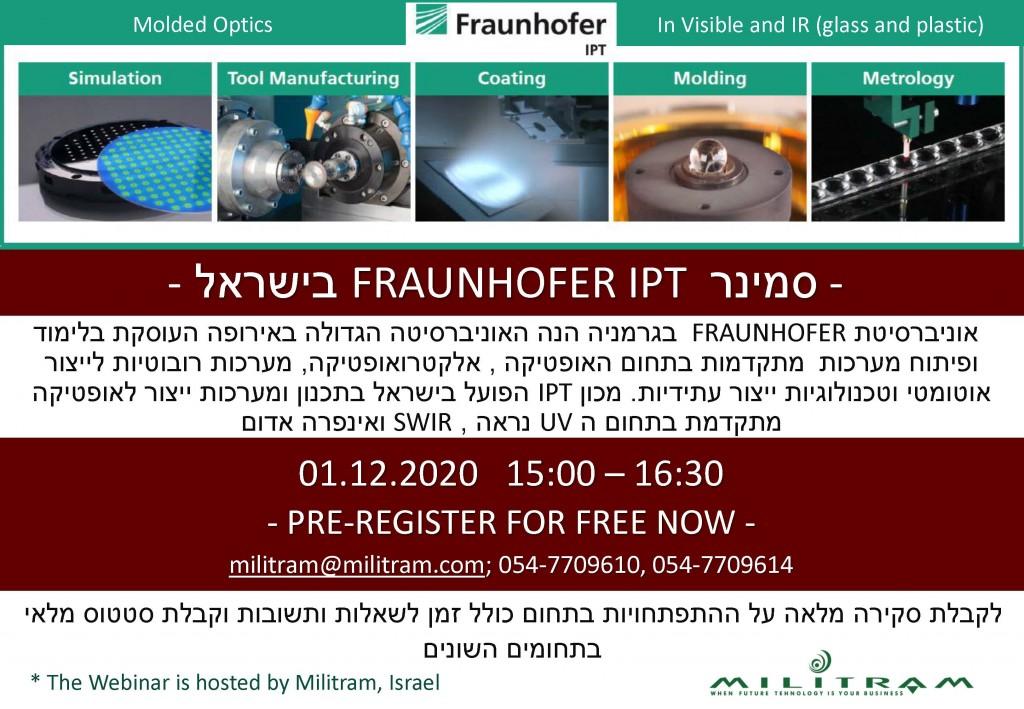 Fraunhofer Webinar Ad