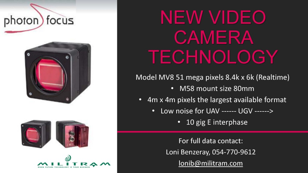 Photonfocus New Video Camera Technology